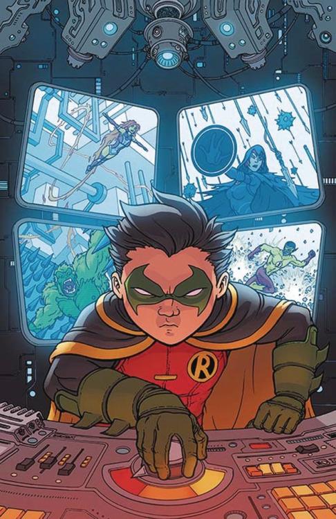 The cover of Teen Titans Volume 6 #5. Art by Chris Burnham