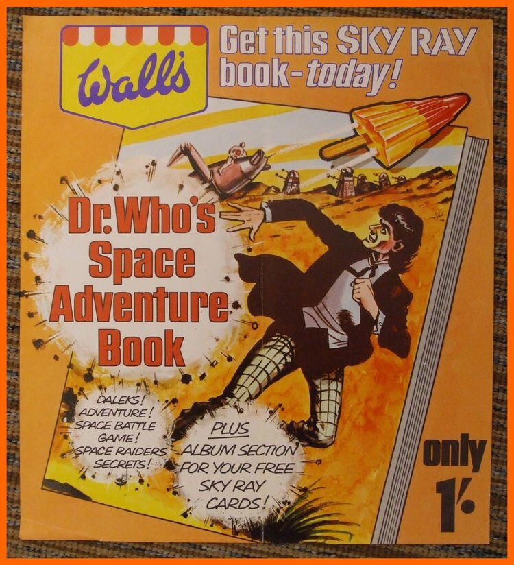 Doctor Who's Space Adventure Book - Walls Sky Ray 1967