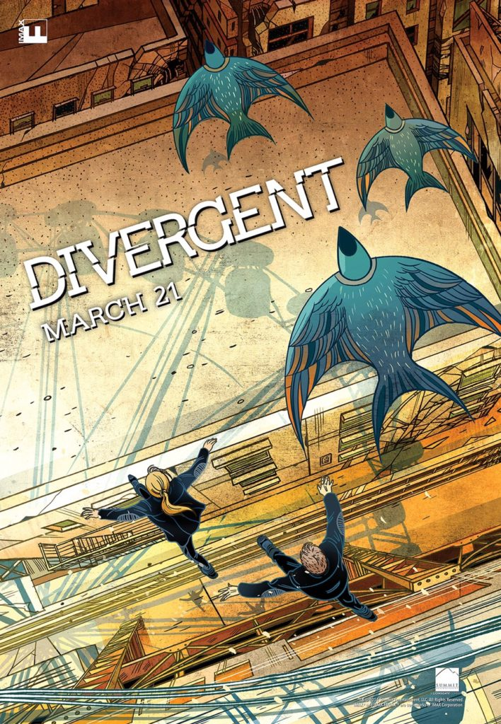 Victo Ngai's poster art for the IMAX release of Divergent
