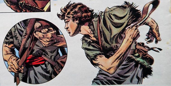 "Art from ""The Shepherd King"" written by Clifford Malinda, drawn by Frank Bellamy"
