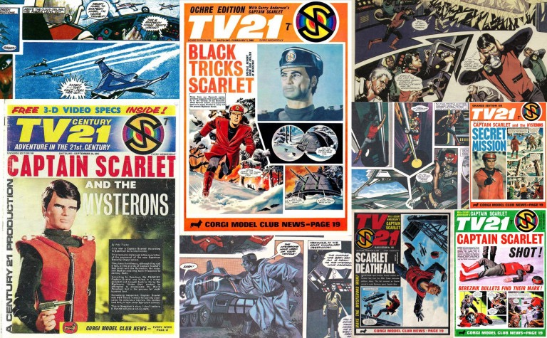 Captain Scarlet Comics Montage
