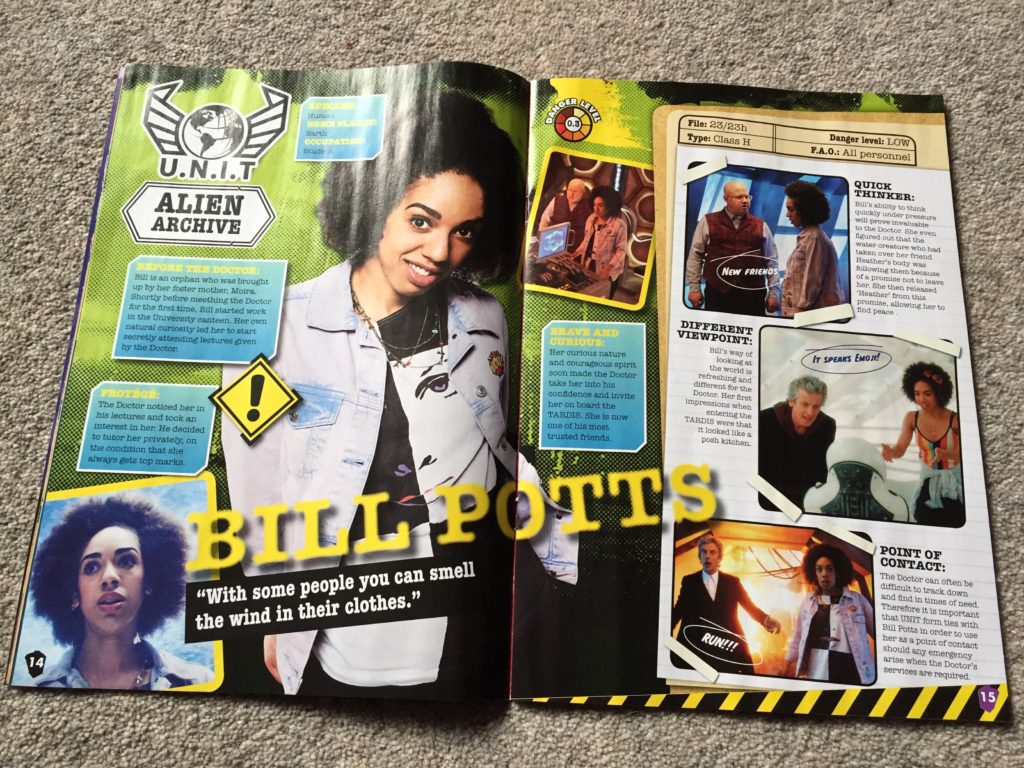 Doctor Who Adventures Issue 23 - Bill Potts Feature