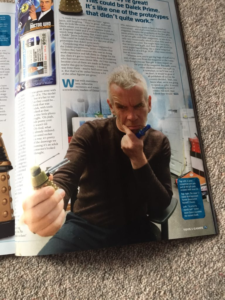 """Jason Quinn ponders the mysterious long """"limbed"""" Dalek given away free with Doctor Who Adventures..."""