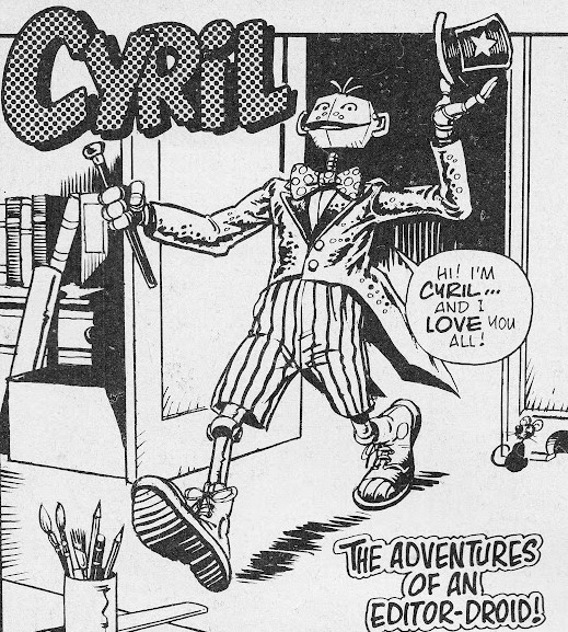 Cyril the Editor Droid by John Ridgway for Return of the Jedi Weekly