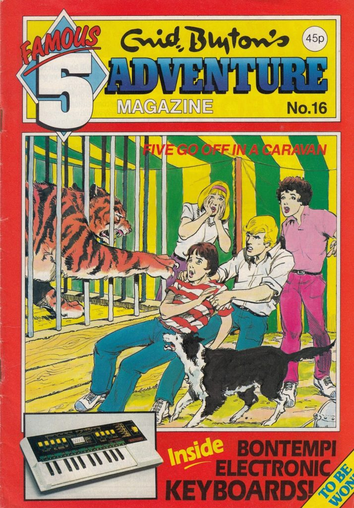 """Five Off In A Caravan"", the final story adapted for Enid Blyton Adventures (issue 16) by Gail Renard & Les Lilley; art by John Richardson"