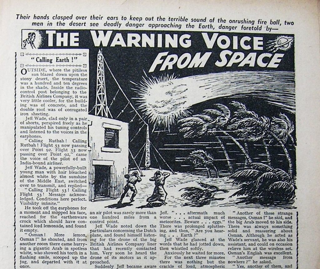 """The Warning Voice from Space"" (Adventure)"