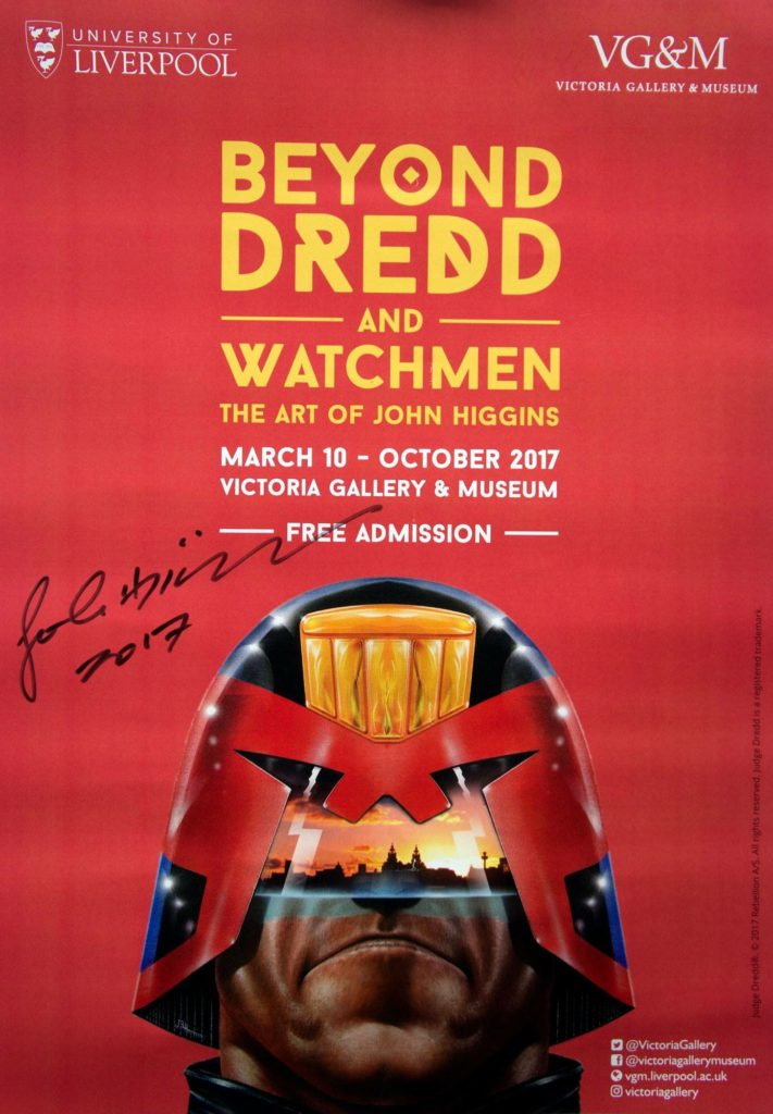 John Higgins Art Exhibition Signed Poster - Liverpool 2017