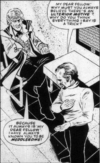 """A panel from """"The Man in the Ion Mask"""" for the DWM U.N.I.T. Special, art by Brian Williamson"""
