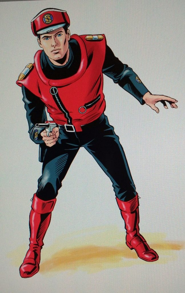 Captain Scarlet by Mike Noble, inked and coloured by Lee Sullivan