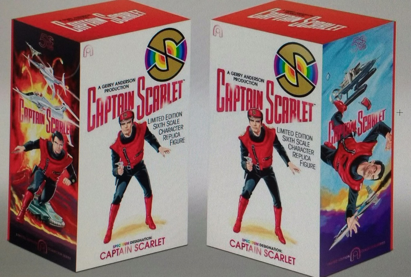 BIG Chief Studios Captain Scarlet art in progress work by Lee Sullivan