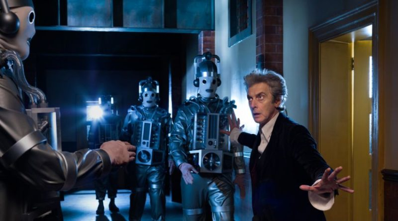 The Twelfth Doctor (Peter Capaldi) faces Cybermen in the final episodes of Season 10, airing soon. Image: BBC