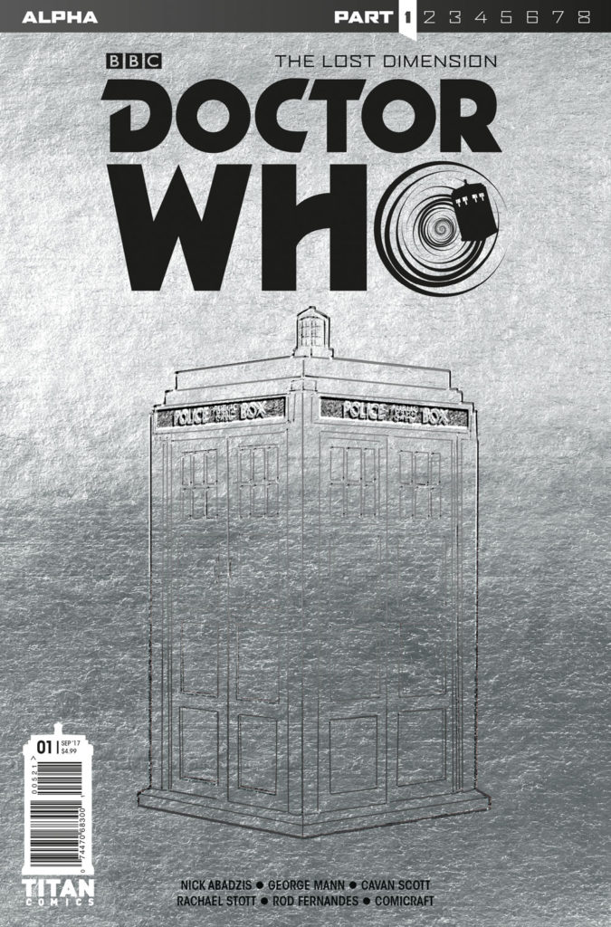 Doctor Who: The Lost Dimension - Alpha Cover  A:  Embossed TARDIS Foil Cover