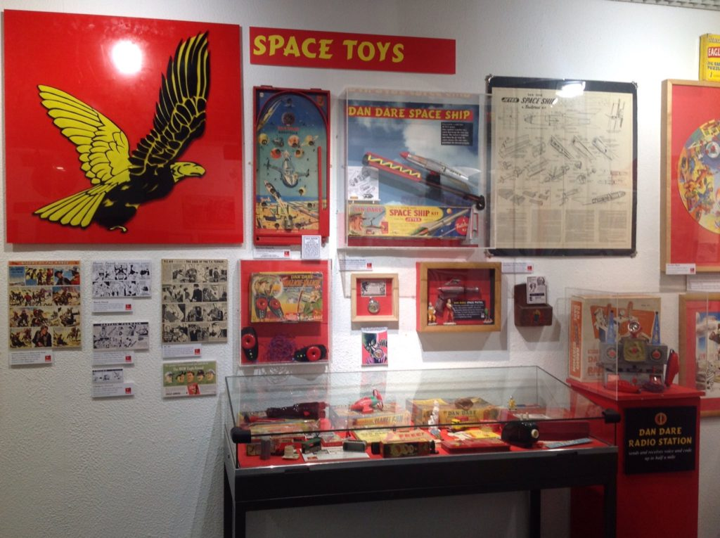 Dan Dare on display at Herne Bay's Seaside Museum. Image: The Seaside Museum
