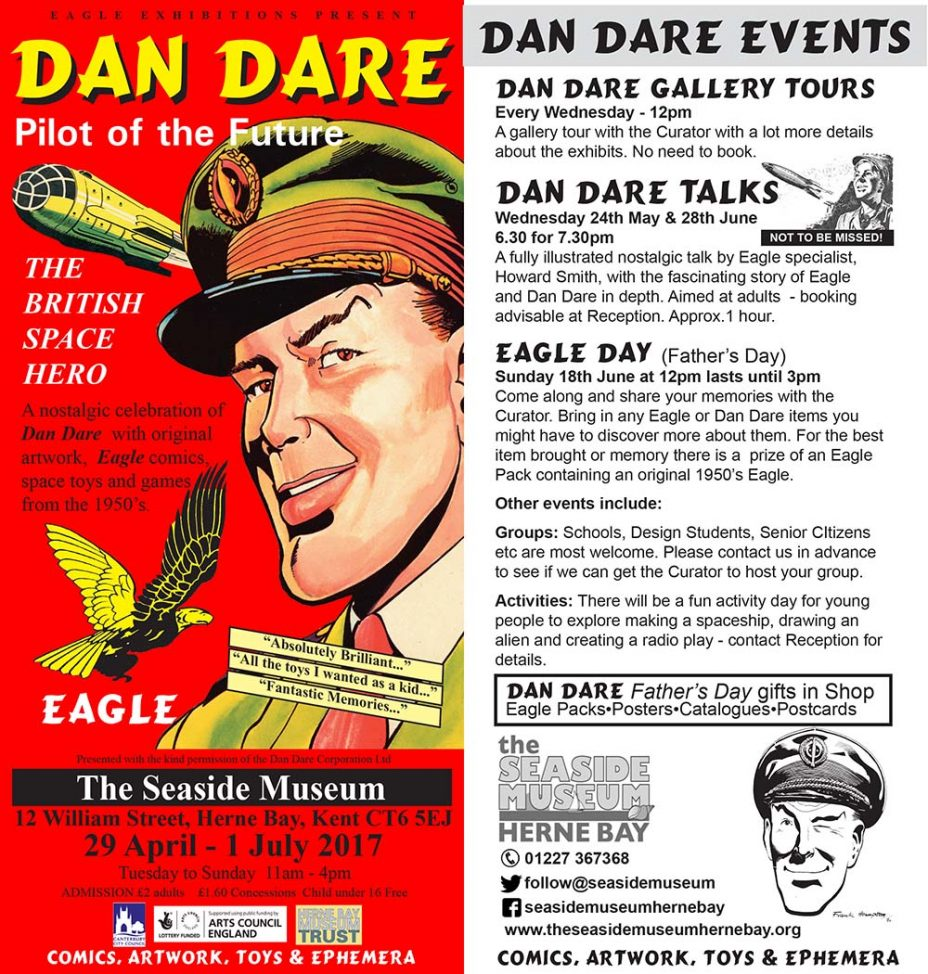 Dan Dare Exhibition Leaflet - The Seaside Museum 2017
