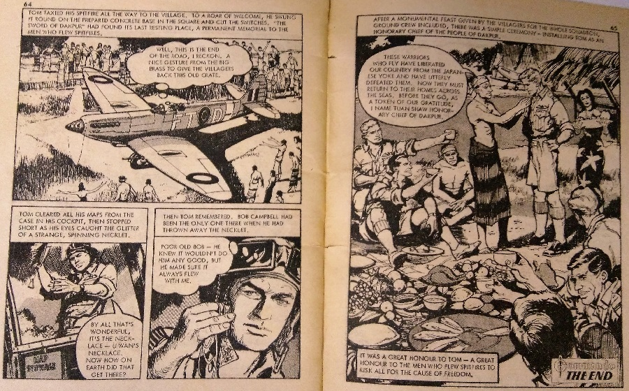 Art from Commando 839 - The Silver Spitfire by Gordon Livingstone