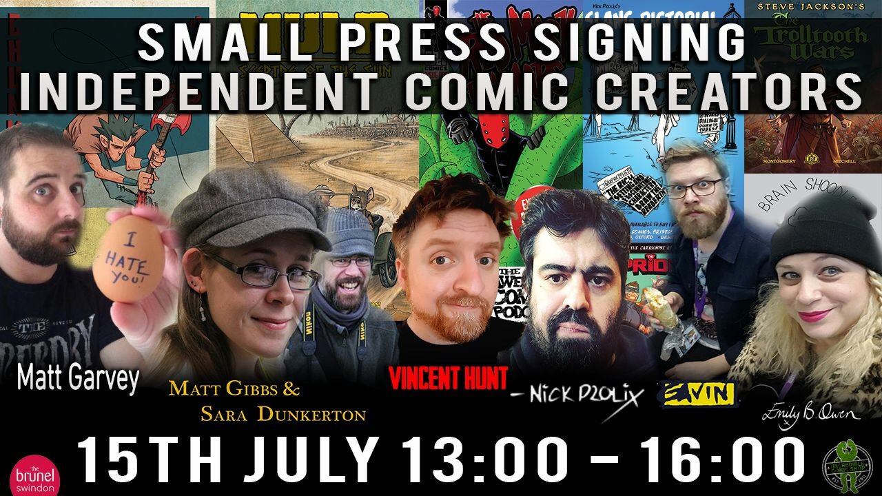 Incredible Comic Shop Signing 15th July 2017