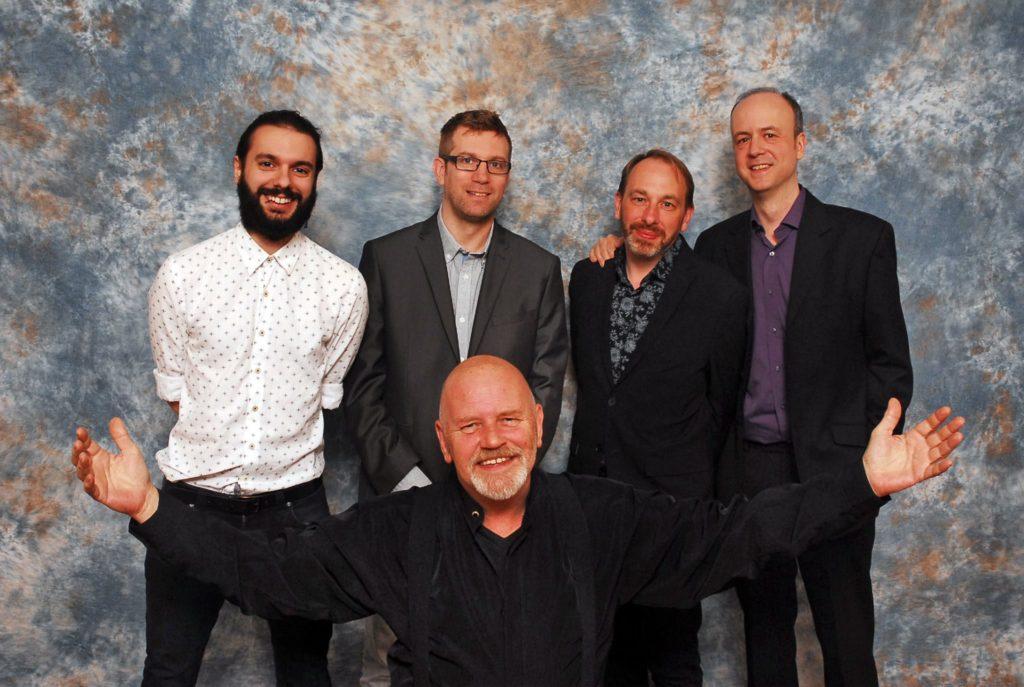 DWM writer Benjamin Cook, Tom Spilsbury, Alan Barnes and incoming editor Marcus Hearn, and founding editor Dez Skinn at the DWM Day in Windsor earlier this year. Photo: Panini UK