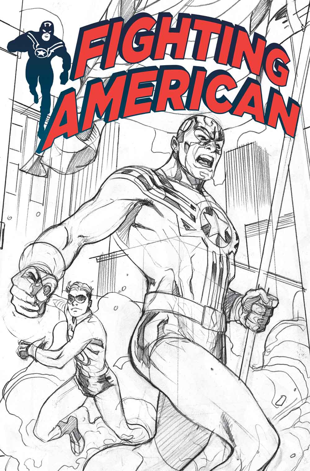 Fighting American #9 - Cover by Terry Dodson