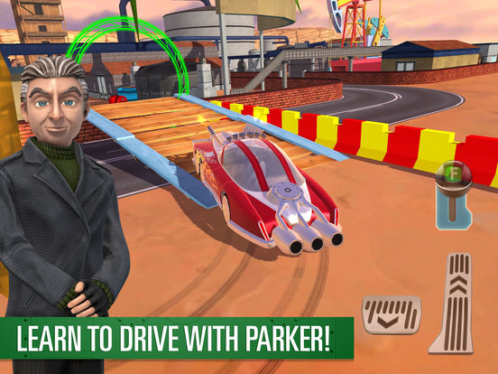 A screenshot from the successful Parker's Driving Challenge, released by Play with Games in 2017