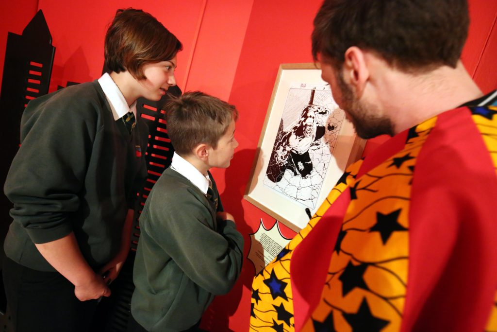 Miracleman Art in the Comics: Explore and Create Comic Art at Seven Stories - Press Image
