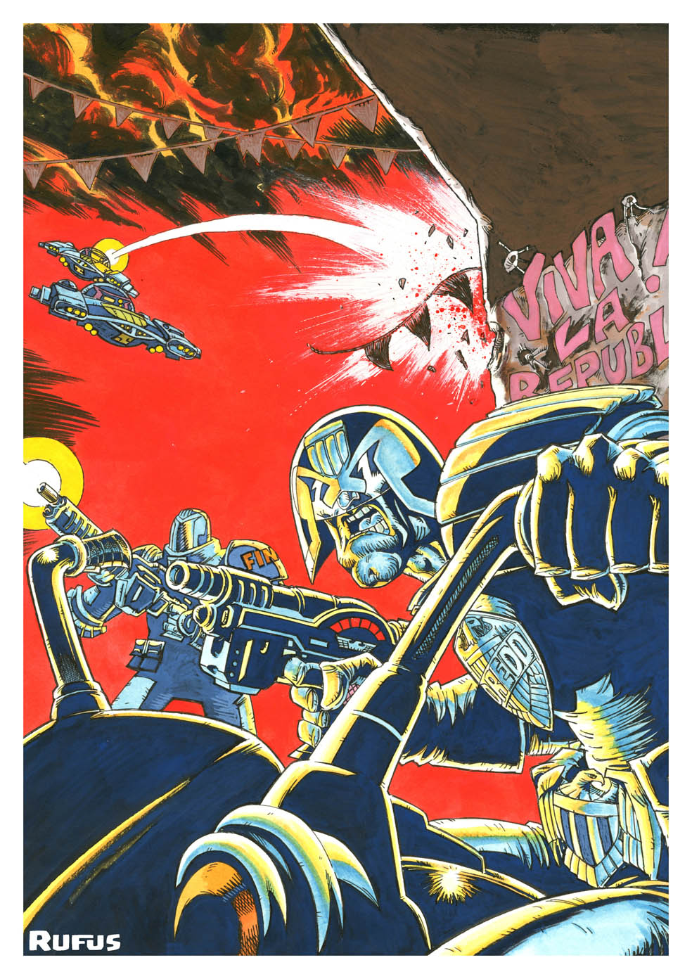 Judge Dredd by Rufus Dayglo