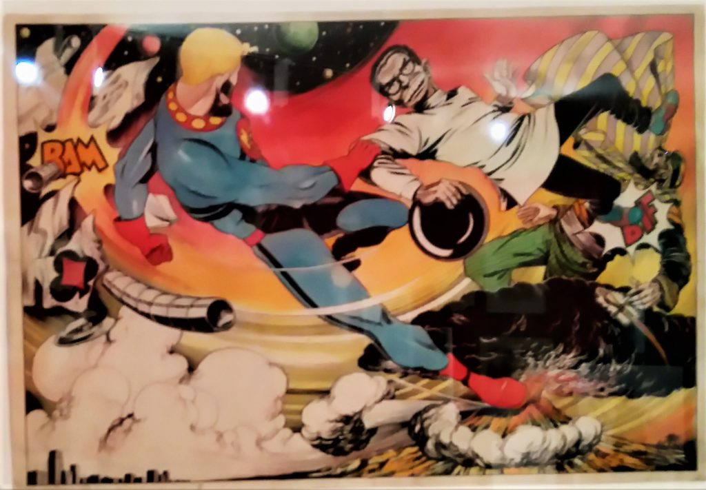 Miracleman Art in the Comics: Explore and Create Comic Art at Seven Stories exhibition. Photo: Peter Hansen
