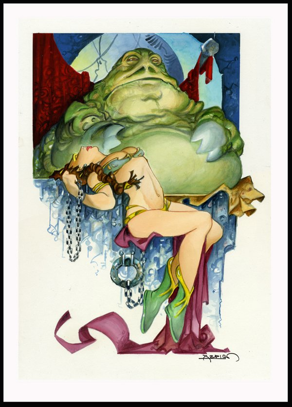 Jabba the Hutt as you've possibly never seen him before... by Alphonso Azpiri
