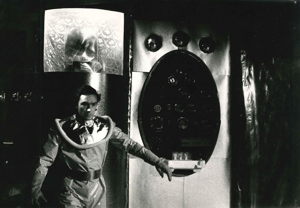 Alex Leppard as Dan Dare and Michael Colbourne as Sondar in Dan Dare: A Space Adventure. Photo by Ron McCormick