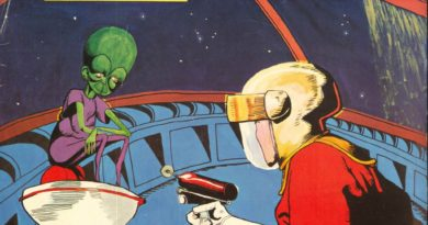 A poster for Dan Dare: A Space Adventure. Art by Caroline Struthers