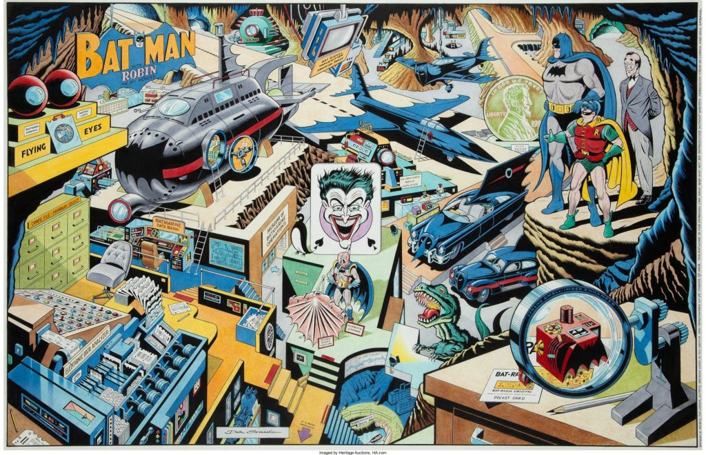 Batcave Revealed art by Dick Sprang