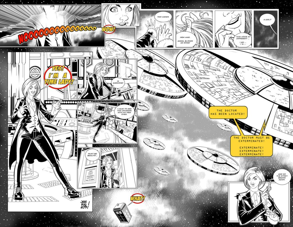 Jose Rodriguez Mota‎ sent in this terrific strip spread - the only one received and we couldn't not highlight the work.