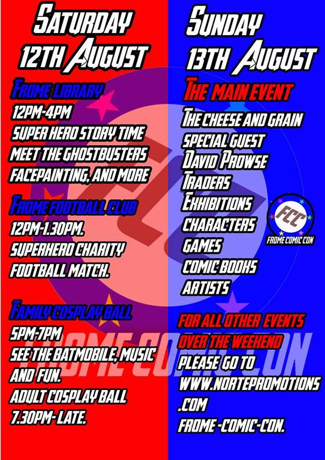 Frome Comic Con 2017 Poster