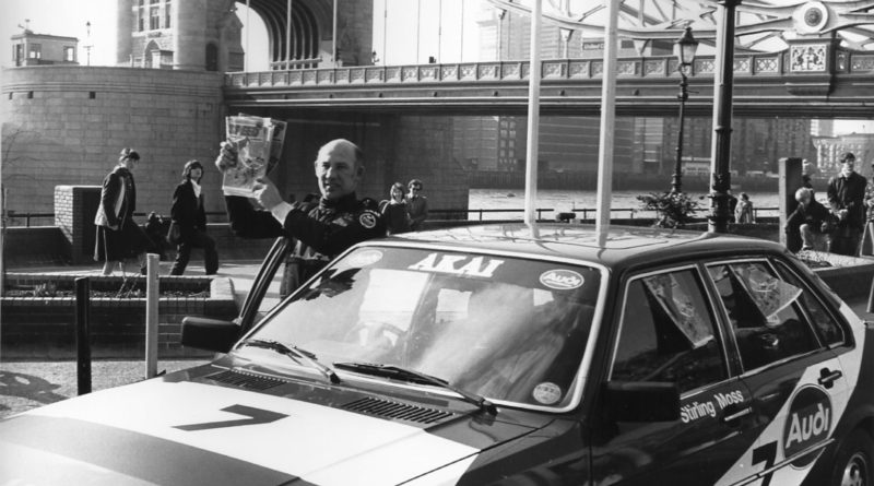 Stirling Moss speeding on to the scene with the first copies of Speed