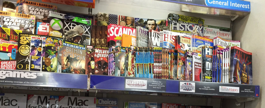 "Panini and Titan Comics ""digest"" titles, collecting DC and Marvel comic strips, are poorly displayed"