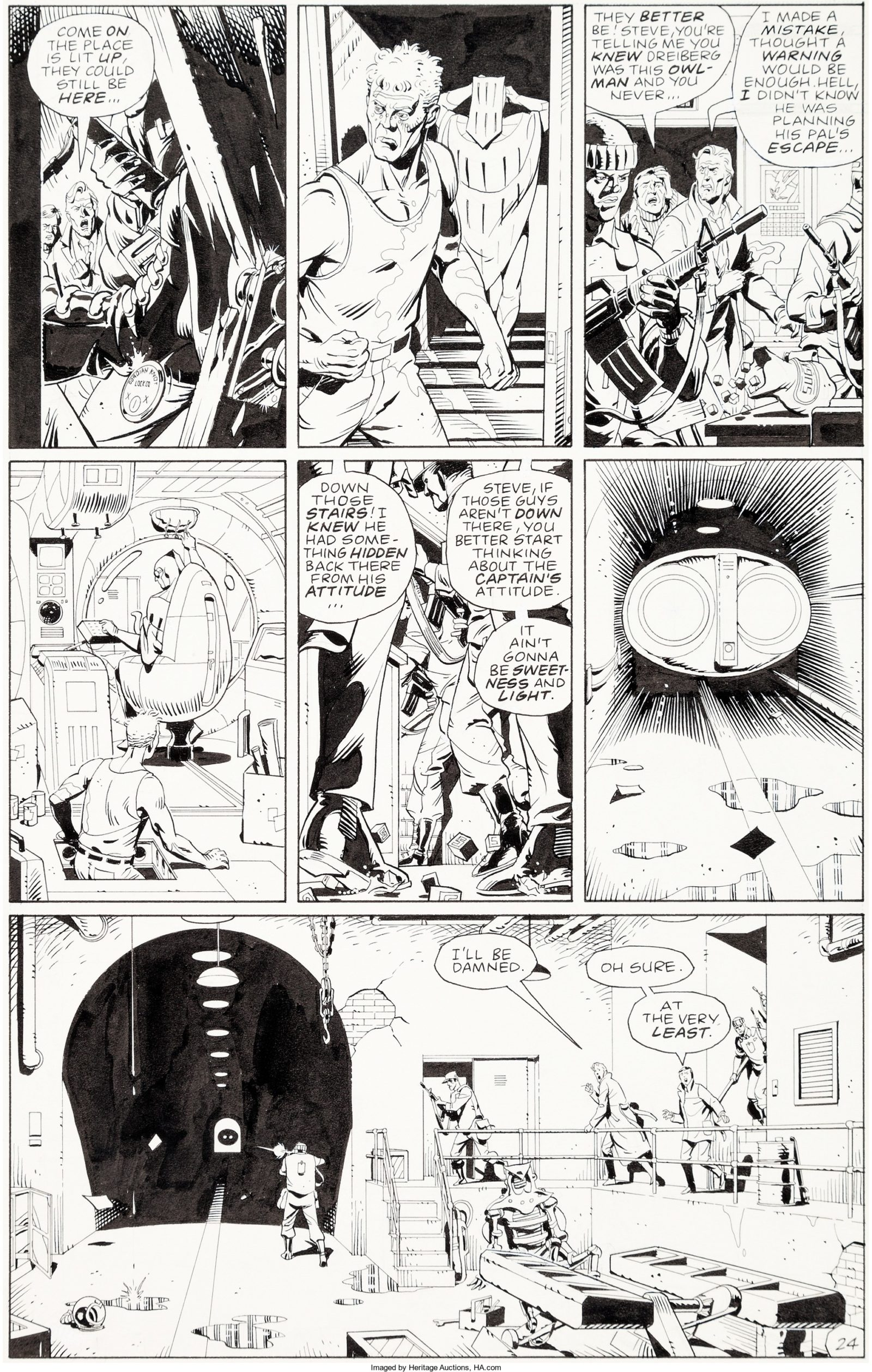 Watchmen art by Dave Gibbons (#8, Page 24)