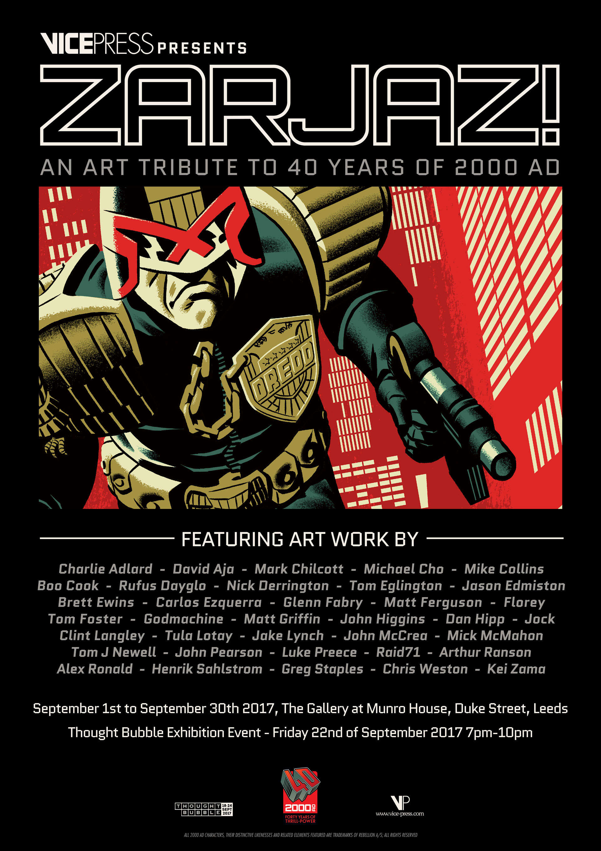 Zarjaz - 40 Years of 2000AD Poster