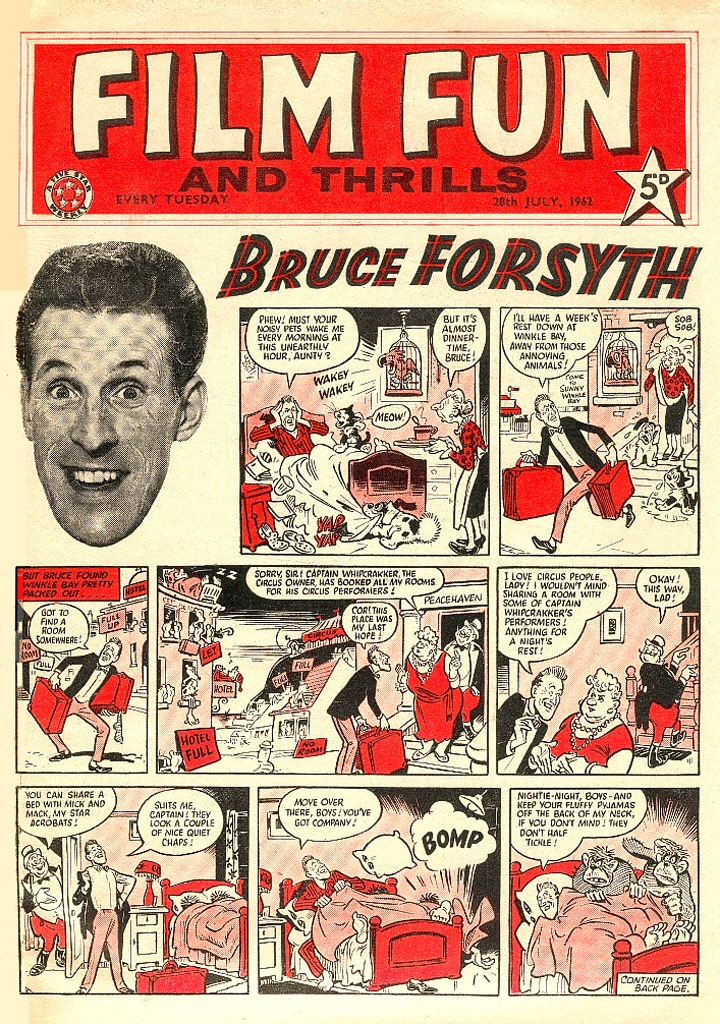 Film Fun - cover dated 28th July 1962 - Bruce Forsyth