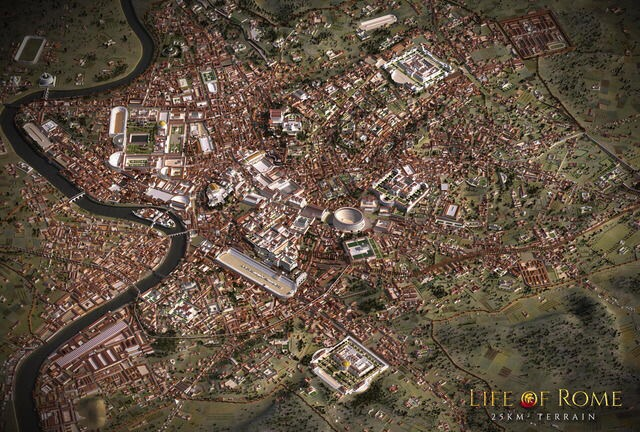 Life of Rome - 3D Map