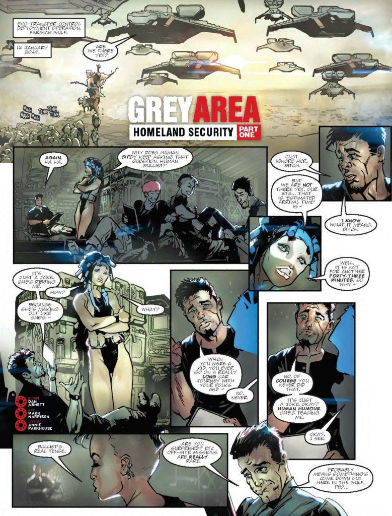 2000AD Prog 2050 - Grey Area - Homeland Security