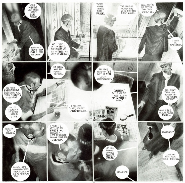 "A page from Big Numbers 2, which was inspired by ""Gasoline Alley"""