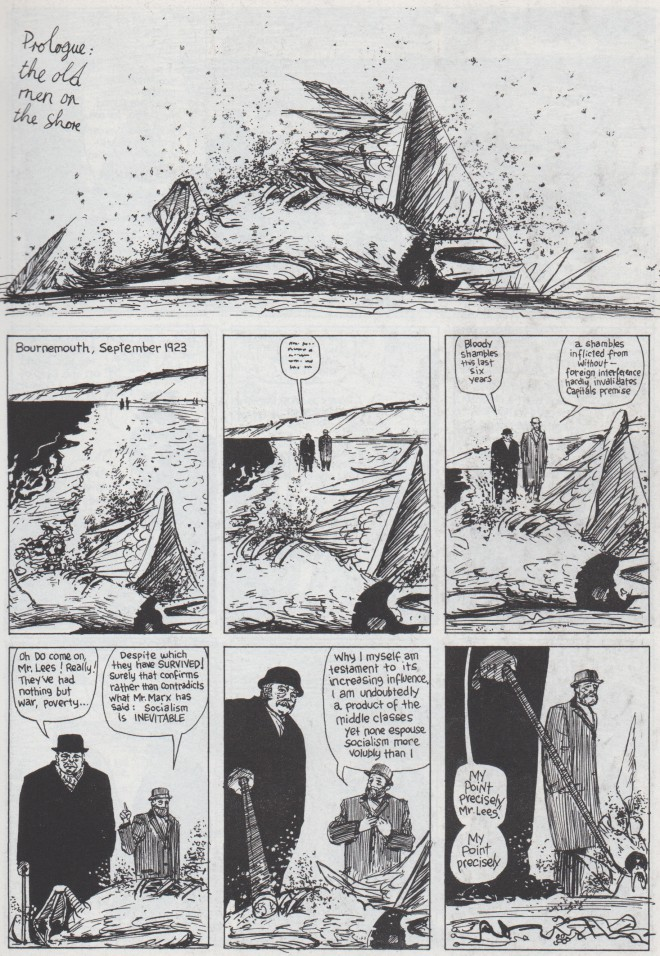 The opening page of the From Hell Prologue, which appeared in Taboo #2 in 1989. Script by Alan Moore, art by Eddie Campbell