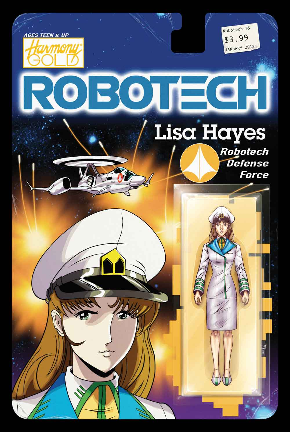 Robotech #5 Cover C: Action Figure Variant