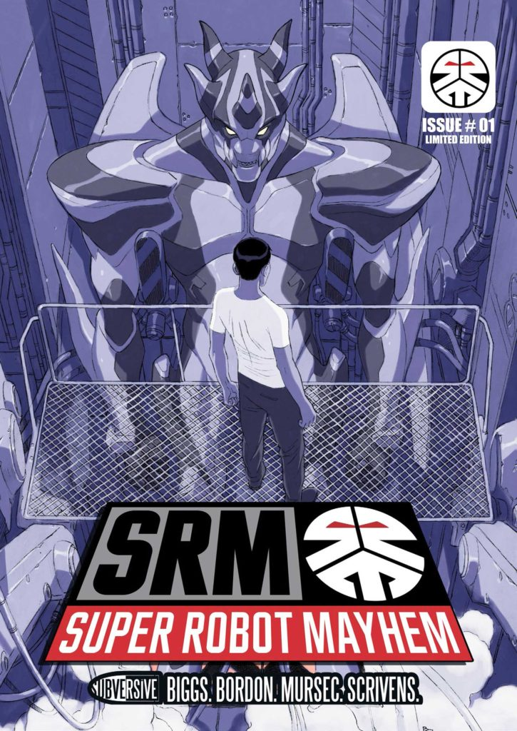 Super Robot Mayhem #1 - Cover