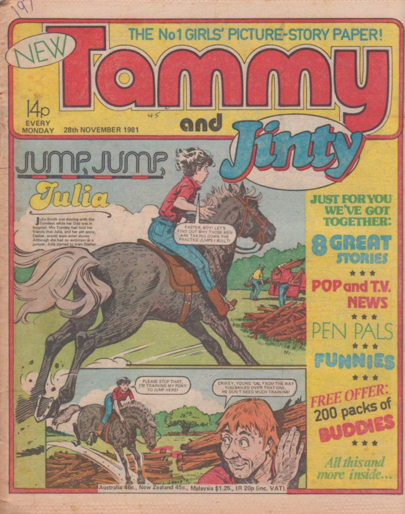 Tammy and Jinty - cover dated 28th November 1981