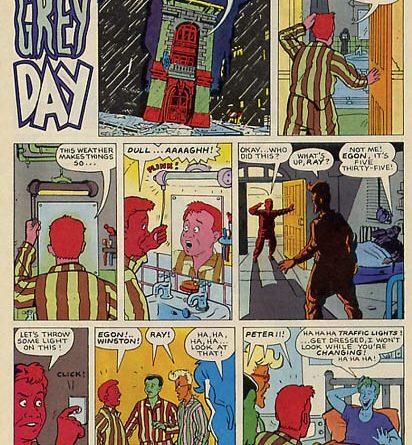 Real Ghostbusters art by Phil Elliott