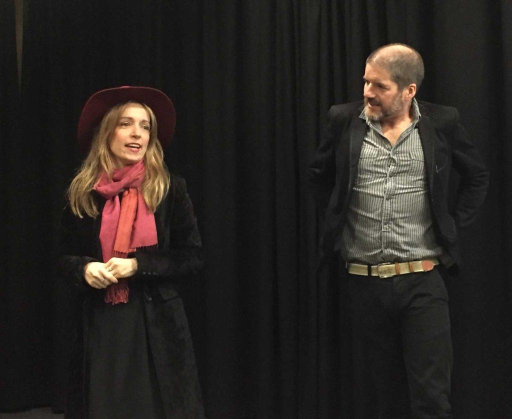 Dr Natasa Lackovic and Comics Laureate Charlie Adlard