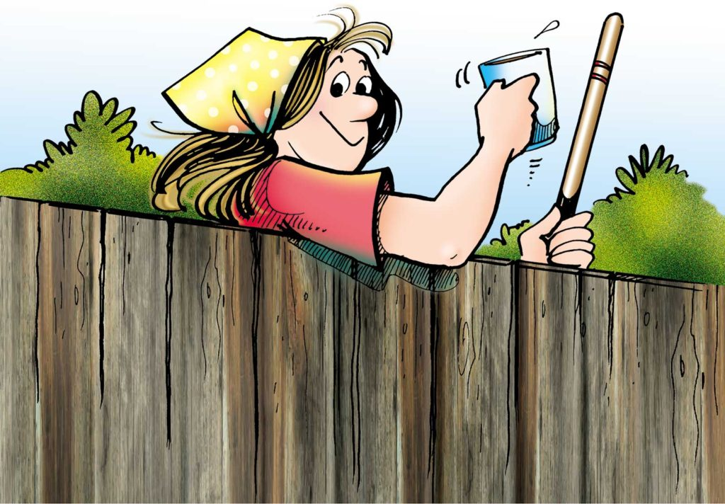 For Better or Worse - Elly Looking Over Fence