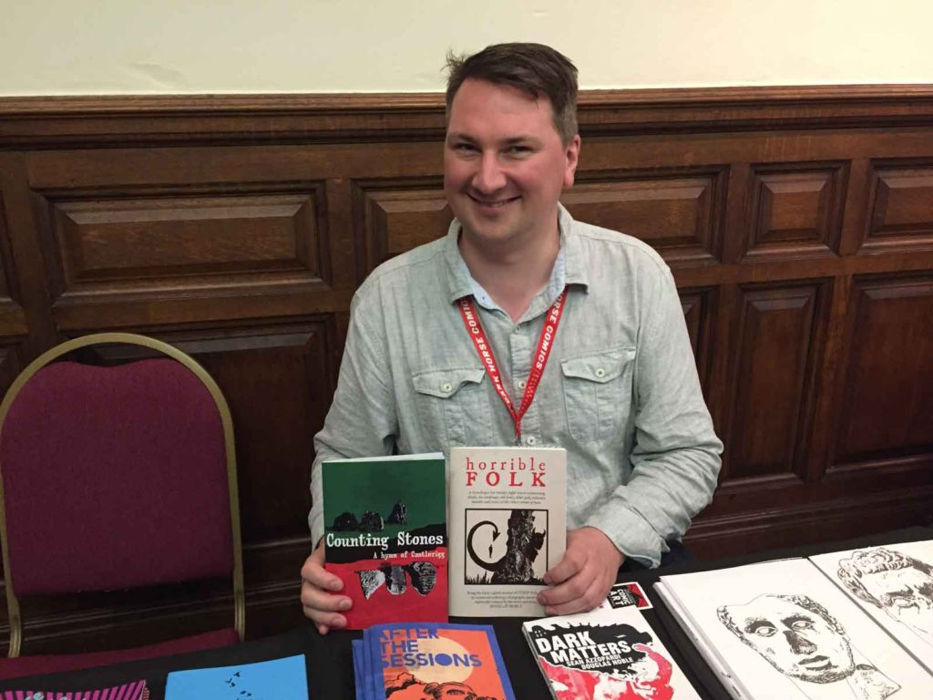 Douglas Noble cannily had a localised comic on sale t catch the eye of locals. Photo: John Freeman