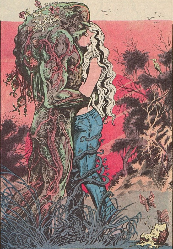 """Art from Swamp Thing #34 """"Rite of Spring"""", written by Alan Moore, art by Stephen Bissette and John Totleben © DC Comics"""