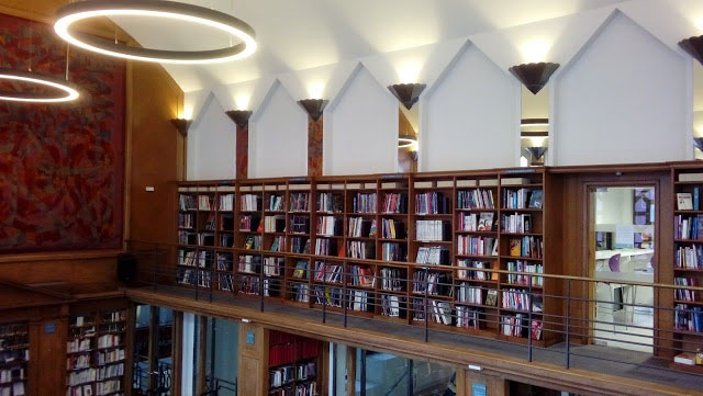 The Institut Francais Graphic Novel Library. And you thought you had a lot of comics.... Photo: Richard Sheaf